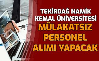 Tekirdağ Namık Kemal Üniversitesi En Az Lise Mezunu Hemşire Alımı Yapacak