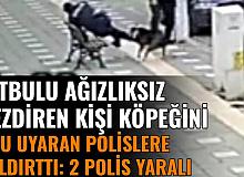 2 Polis Yaralandı: Bir Kişi, Köpeğini Bölgeden Uzaklaştır Diyen Polislere Köpeğini Saldırttı