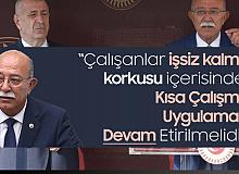 Bağımsız Adana Milletvekili İsmail Koncuk: Kısa Çalışma Ödeneği Uygulaması Devam Etmelidir