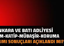 Ankara Adliyesi Ankara Batı Adliyesi İKM, İcra - Zabıt Katibi, Mübaşir, Güvenlik Alımı Sonuçları Açıklandı mı | Adalet Bakanlığı CTE Personel Alımı Sonuçları 2021