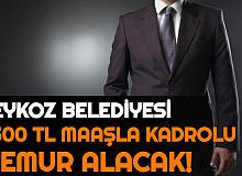 Beykoz Belediyesi 4500 TL Maaşla Kadrolu Memur Alımı Yapacak