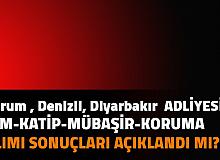 Çorum, Denizli, Diyarbakır Adliyesi İKM, Mübaşir, İcra Zabıt Katibi Alımı Sonuçları Açıklandı mı? Adalet Bakanlığı CTE Memur Sonuçları 2021