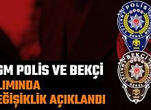 EGM Polis ve Bekçi Alımında Değişiklik!