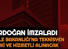 Erdoğan İmzaladı: Aile, Çalışma ve Sosyal Hizmetler Bakanlığı'na Memur Alımı Kadroları Açıklandı