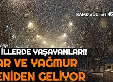 Gece Yarısı Başlıyor: Bu İllere Kuvvetli Kar ve Yağmur Geliyor (İstanbul , Ankara , İzmir , Kayseri , Konya Hava Durumu)