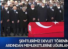 Helikopter Kazasında Şehit Olan Kahramanlarımız Devlet Töreninin Ardından Memleketlerine Uğurlandı