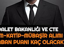 İnfaz Koruma Memuru (İKM), Zabıt İcra Katibi ve Mübaşir Alımı KPSS Taban Puanı Kaça Kadar Düşer?