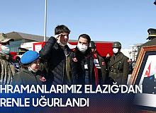 Kahraman Şehitlerimiz için Elazığ'dan Törenle Uğurlandı! Devlet Töreni Ankara'da Yapılacak