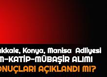 Kırıkkale Adliyesi, Konya Adliyesi, Manisa Adliyesi Sonuçları Açıklandı mı 2021 | Adalet Bakanlığı CTE İKM, Katip, Mübaşir Alımı 2021 Sonuçları