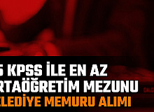 Kozaklı Belediyesi İkamet Şartsız 55 KPSS ile Memur Alımı Yapacak: En Az Lise