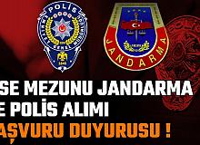 Lise Mezunu Polis ve Jandarma Alımı Başvuru Duyurusu (PMYO, JSGF, JAMYO Başvurusu)
