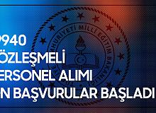 MEB 19 bin 940 Sözleşmeli Personel Alımı Ön Başvuru İşlemleri Başladı
