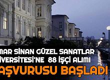 Mimar Sinan Güzel Sanatlar Üniversitesi KPSS'siz 88 İşçi Alımı Yapıyor