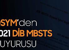 ÖSYM'den DİB MBSTS Sınav Yerleri Duyurusu