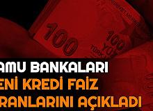 Son Dakika: Kamu Bankaları Konut-Taşıt-İhtiyaç Kredi Faiz Oranlarını Açıkladı