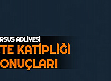 Tarsus Adliyesi CTE Katipliği Başvuru Sonuçları Açıklandı: İşte Liste