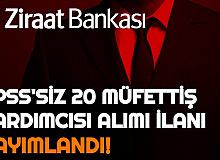 Ziraat Bankası 20 Müfettiş Yardımcısı Alımı Yapacak