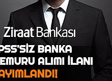 Ziraat Bankası KPSS'siz Personel Alımı İlanları Yayımlandı: İşte Banka Memuru Alımı Duyuruları