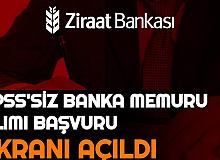 Ziraat Bankası Personel Alımı| KPSS'siz Banka Memur Alımı Başvuru Ekranı Açıldı