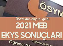 2021 MEB EKYS Sonuçları Açıklandı