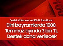 Bakanlıktan Zam Kararı: Ödemeler 1000 TL'den 1500 TL'ye Çıkarıldı