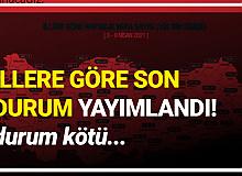 Koronavirüs Vaka Haritası Güncellendi! Kırklareli, İstanbul ve Çanakkale Alarm Veriyor...