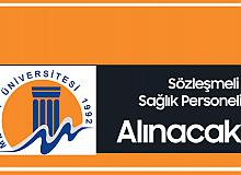 Mersin Üniversitesi'ne Sözleşmeli Sağlık Personeli Alımı Yapılacak