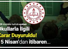Milli Eğitim Bakanlığı'ndan Okullarla İlgili Açıklama (İlkokullar, Ortaokullar ve Liselerde Yeni Dönem)