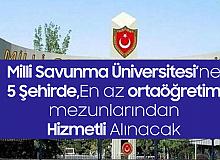Milli Savunma Üniversitesi'ne Hizmetli Alımı Başvuru Şartları ve Başvuru Sayfası