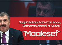 """Sağlık Bakanı Fahrettin Koca, Ramazan Öncesi,  """"Maalesef"""" Diyerek Açıkladı"""