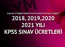 2018, 2019, 2020 ve 2021 Yıllarına Ait KPSS Sınav Ücretleri (KPSS Alan Bilgisi ve Öğretmenlik)