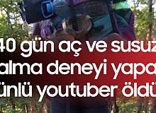 40 Gün Aç ve Susuz Kalmayı Planlayan Youtuber Hayatını Kaybetti
