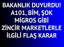 A101, BİM, ŞOK, Migros gibi Zincir Marketlerle İlgili Yeni Karar Belli Oldu!