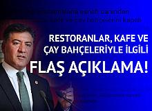 Ankara Milletvekili Murat Emir'den Restoranlar, Kafeler ve Çay Bahçeleriyle İlgili Flaş Açıklama