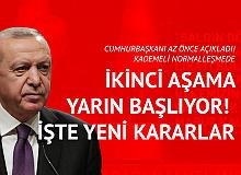 Cumhurbaşkanı Erdoğan Yeni Kararları Az Önce Açıkladı: Yarından İtibaren Kademeli Normalleşmede İkinci Aşama Başlıyor
