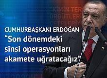 Cumhurbaşkanı Erdoğan: Kimin terör örgütleriyle suç çeteleriyle yürüdüğünü milletimiz biliyor, görüyor.