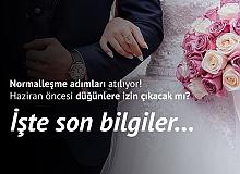 Düğünlere İzin Haziran Sonrasına Sarkabilir