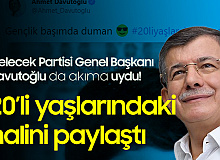 Gelecek Partisi Genel Başkanı Ahmet Davutoğlu da Akıma Uydu! 20'li Yaşlarındaki Halini Paylaştı!