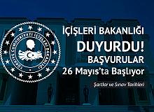 İçişleri Bakanlığı Kaymakam Adaylığı Sınavı için Başvurular 26 Mayıs'ta Başlayacak