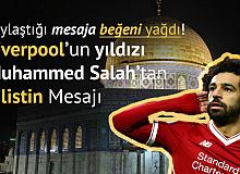 Liverpool'un Yıldız Oyuncusu Salah'tan 'Filistin' Mesajı