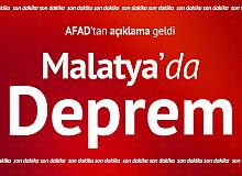 Malatyta Pütürge'de Deprem! AFAD'tan İlk Açıklama Geldi