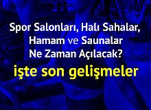 Spor Salonları, Halı Sahalar, Hamam ve Saunalar için 1 Haziran Sonrası Bekleniyor