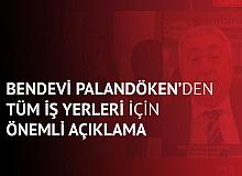 """TESK Genel Başkanı Palandöken'den """"Tüm İş Yerleri""""  için Çağrı : Kurallara Uyuyoruz, Esnaf Açılma Bekliyor"""