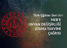 Türk Eğitim-Sen'den MEB'e Atama Takvimi Çağrısı