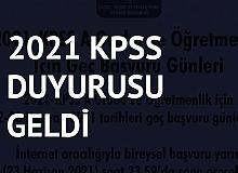 2021 KPSS Geç Başvuru İşlemleri Başladı