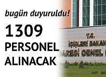 Bugün Duyuruldu! İçişleri Bakanlığına 1309 Personel Alınacak (Şoför, Avukat, Koruma ve Güvenlik, Sosyal Çalışmacı)