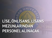Harran Üniversitesi'ne Lise, Önlisans, Lisans Mezunlarından Personel Alınacak