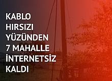 Kablo Hırsızı Yüzünden 7 Mahalle İnternetsiz Kaldı! Kıskıvrak Yakalandı