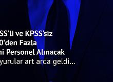 KPSS'li ve KPSS Şartsız 500'den fazla Personel Alınacak (ilkokul, ortaöğretim, ön lisans ve lisans personel alımları)