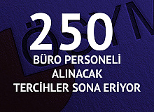 Ticaret Bakanlığı 250 Büro Personeli Alımı Tercihleri Bugün Sona Eriyor
